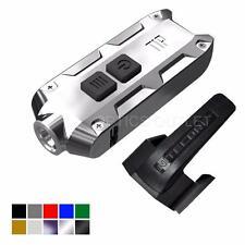 Nitecore TIP 2017 SS 360 Lumen USB Rechargeable Keychain Flashlight (Glacier)