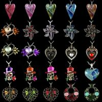 Charm Crystal Heart Flower Pendant Necklaces Sweater Chain Mother's Day Gift Hot