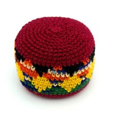 Hacky Sack Boota Bag Crochet Footbag Guatemalan New Multi Color Red Yellow