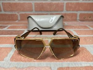 Vintage CAZAL 951 Sunglasses Gold Brown Gradient Side Shields Germany 955 Cups
