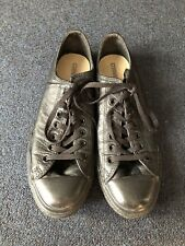 Black Leather Converse Low Top Sneakers Men's Size 10 US