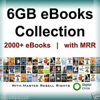 2000 eBooks Collection (TOTAL 6 GB)  with Resell Rights (PDF)