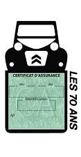 Etui vignette assurance 2CV Citroën les 70 Ans étui voiture Stickers auto rétro