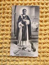More details for san martin de porres , antique collectible card , 1940s