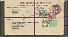 BANGLADESH PAKISTAN REGISTERED COVER FROM CHITTAGONG NIGHT P.O. USED (2 scans).