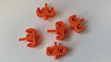 5 Stück Klemmhalter 2-fach Halterung Bremsleitung Clip Halter Leitung 4,75 mm