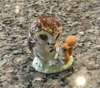Mint Condition Royal Albert 1989 Old Mr Brown Beatrix Potter Owl Figurine