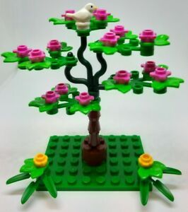 LEGO Tree with Flowers, Stand and White Dove Bird (B)