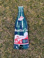 VINTAGE MOUNTAIN DEW PORCELAIN METAL SIGN GAS STATION OIL SODA POP GENERAL STORE