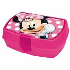 Fiambrera sandwichera Minnie Disney de plastico color rosa