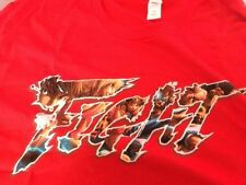 Men Medium Street Fighter V/5 Red Fight T-Shirt M Tee Loot Gaming Crate Capcom