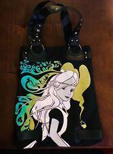 New! Disney Couture by loop, Alice in Wonderland, Black, Large Tote