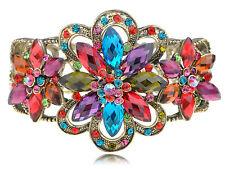 Rainbow Jewel Gem Flower Star Crystal Rhinestune Fahsion Bracelet Bangle Cuff