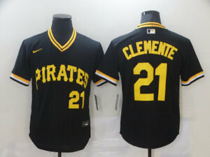 Roberto Clemente #21 Pittsburgh Pirates Jersey Classic Pullover Stitched Men's