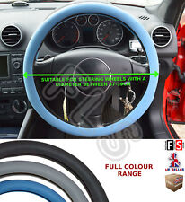 UNIVERSAL BLUE STEERING WHEEL COVER FAUX LEATHER 37 TO 39CM A3NI--FIA2