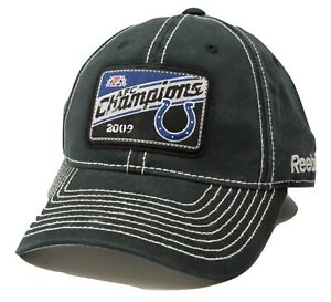 Reebok Indianapolis Colts NFL Football AFC Champions One Size Flex Fit Cap Hat