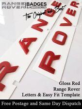 GLOSS RED RANGE ROVER SPORT HSE LETTERS BADGE LETTERING BOOT BONNET