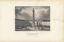 Print from old book of The Napoleon Column Paris by Herrman Myer New York