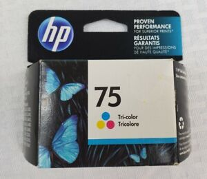 HP 75 Tri-Color Ink Cartridge Brand New & Factory Sealed Warranty ends OCT 2016