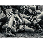 PHOTO SPORT RUGBY FOOTBALL CLOSE UP SCRUM PLAYERS BALL GAME 30x40 cms POSTER