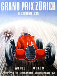 VINTAGE 1908 VANDERBILT CUP RACE AUTO RACING POSTER PRINT 36x54 BIG 9MIL PAPER