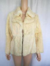 Vintage Dino Ricco Fur Jacket Small Ivory Cream