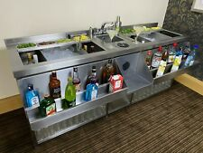 More details for supreme cocktail bar station, stainless steel, with fully insulated ice well