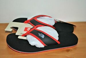 The North Face Boys' Base Camp Black & Red Flip Flop Sandals - Size 1 Youth