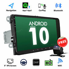"""Cam DVR 9"""" Android 10 GPS Car Stereo for VW Golf Mk5 6 Touran Caddy Jetta Rcd330"""
