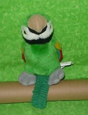 Tormont Publications GREEN PARROT w/ Wrist Strap PLUSH Stuffed Animal Cosplay