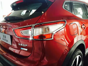 Zubehör Nissan Qashqai (kein Facelift) Chrom Rahmen Rücklicht Heckleuchte