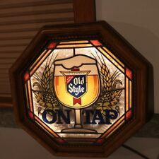 Heileman's Old Style Beer On Tap Lighted Sign