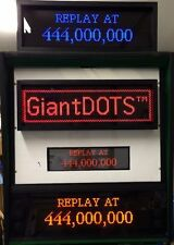 Giantdots LED Dot Matrix Display Bausatz für Flipper Automaten, 128x32 DMD, rot