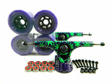 Paris 180mm V2 Amanda Powell Longboard Trucks + Blank 90mm Flywheels Purple