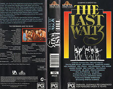 The Last Waltz a Martin Scorsese Film VHS Never Played Very RARE