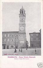 Macerata Piazza Vittorio Emanuele Teatro e Torre Municipale f.p.
