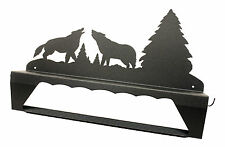 Howling Wolves Wolf Shelf Towel Holder Rack