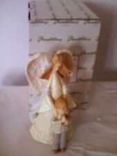Foundations Enesco Angel w/ Boy God Bless You On Your First Communion NEW