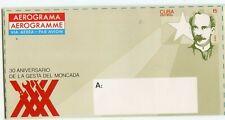 1CUBA AEROGRAMME 15c, 30TH ANIVERSARY DE LA GESTA DEL MONCADA           (C675)