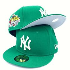 New York Yankees World Series 1999 59FIFTY New Era Green Fitted Hat Gray Bottom
