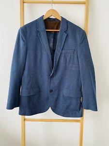 Zara Man Slim Fit Blazer Size XL EUR 42 Blue