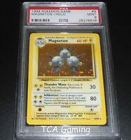 PSA 9 MINT Magneton 9/102 Base Set HOLO RARE Pokemon Card