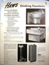 Vtg HAWS RETRO Catalog Water Coolers Faucets Drinking Fountains 1952