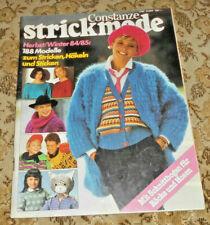 Constanze  Strickmode 1984 188 Modelle Stricken  Strickheft Handarbeitsheft