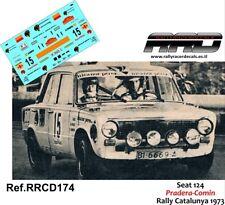 DECAL/CALCA 1/43; Seat 124; Pradera-Comin; Rally Catalunya 1973