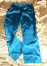 USA M Teal Blue Glossy Liquid Satin Lounge Pants Medium