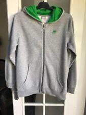 Adidas Boy's Grey Zip-up Cotton Blend Hoodie Size XL /Age13-15 Years