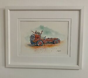 "Original Framed Watercolour ""The ""Bitsa"" Truck"" Morawa, Western Australia"