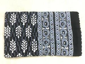 Indian Handmade Quilt Blocked Kantha Bedspread Throw Cotton Blanket Gudari Queen