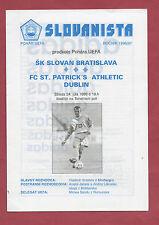 Orig.PRG   UEFA Cup  1996/97   SLOVAN BRATISLAVA - FC St.PATRICK`s ATHLETIC  !!